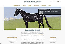 santa fe art auction web design